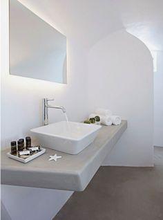 Modern Architecture Traditional Style Villa Anemolia Bathroom Sink