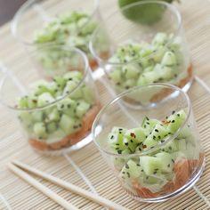 Oosterse zalm met wasabi en komkommer - Cuisine van Sabine !