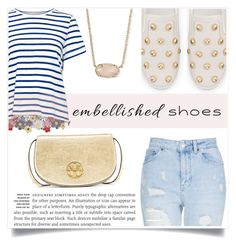 """""""Michael Kors Leo Embellished Sneaker"""" by aylizzle01 on Polyvore featuring Sea, New York, Topshop, MICHAEL Michael Kors, Kendra Scott and Tory Burch"""