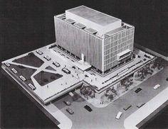 Columbia Law School, architectural model, maqueta, modulo