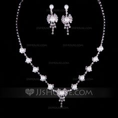 [US$ 4.49] Elegant Alloy/Pearl With Rhinestone Ladies' Jewelry Sets (011040358)