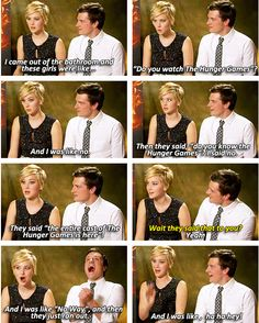 Did you know that Jennifer Lawrence is here? josh is so cute