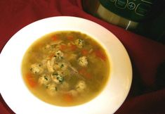 One Pot Chicken Soup with Meatballs and Risoni - Real Recipes from Mums