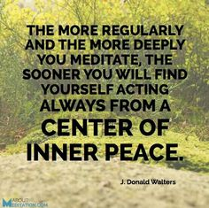 A centre of inner peace