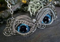 masque with eyes site has several kinds of these necklace  wow Twisted Sister Arts #Steampunk #Jewelry  www.steampunktendencies.com