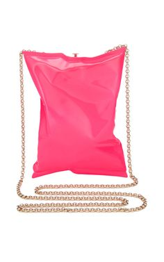 Neon Pink Crisp Packet Clutch by Anya Hindmarch for Preorder on Moda Operandi