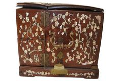 19th-C. Chinese Wooden Jewelry Box | Akiba Antiques