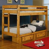 Found it at Wayfair - Navarro Twin over Twin Bunk Bed with Built-In Ladder