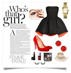 """Glamour"" by amandasoraya on Polyvore featuring Christian Louboutin, Parlor, NARS Cosmetics, Tory Burch and Chanel"