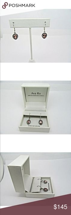 Ava Ro Sterling .925 Swarovski Elements Earrings Ava Ro Sterling .925 Swarovski Elements Earrings - MINT Preowned condition. Gorgeous layers of solid sterling silver and beautiful Swarovski stones.  Comes with box. MATCHING RINGS LISTED IN MY CLOSET! Jewelry Earrings