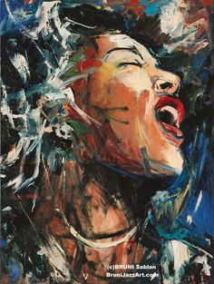Singing my heart out (Billie Holiday - BRUNI Gallery)