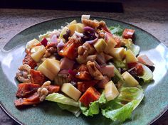 Autumn Crunch Salad - looks good but I'm a vegetarian so I would leave out the meat.