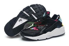 Nike Air Huarache Floral Pack Women Shoes Black Blue Red Yellow White d75f1713f15f