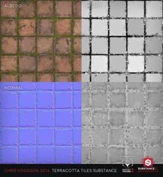 ArtStation - Terracotta Tiles / Substance Designer, Chris Hodgson