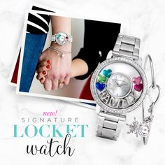 Origami Owl Winter Collection is here! The exclusive Locket Watch is stunning! Click to view the details and pin for later!