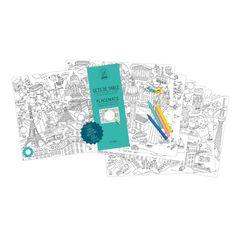 City Maps Coloring Paper Placemats