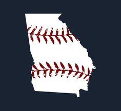 Georgia baseball tshirt Atlanta Braves colors, by watatees, $14.99
