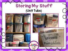 Sharing Kindergarten: How do I store my stuff? Grab some ideas and organization tips.