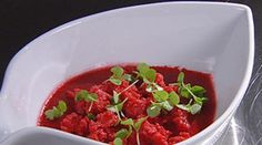 Raspberry jelly with granita and champagne  Masterclass recipe withGeorge Calombaris