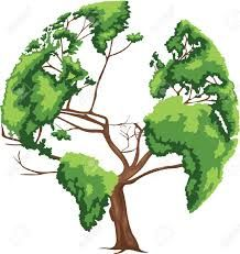 Image result for tree in shape of globe