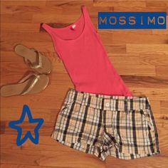 Shorts Pink, blue and yellow plaid Mossimo Supply Co. Shorts. Perfect for warm summer day! Mossimo Supply Co Shorts