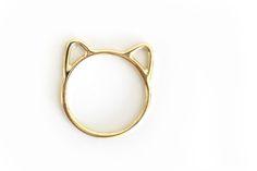 """Anel Gato de Ouro / Cat Ring - Uma joia com design delicado e sutil, para os """"catlovers"""". #joiasliê"""