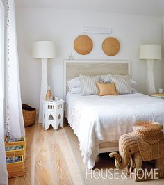 """""""They're exotic and unexpected,"""" says Montana about the wicker elephants.     Photographer: Virginia Macdonald Designer: Montana Burnett"""