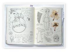 my moleskine by Anna Rusakova, via Behance