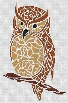 Tribal Owl - Cross Stitch Pattern