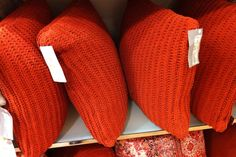 M&S orange cushions