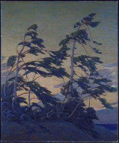 Tom Thomson (Canadian, 1877-1917), Pine Island, Georgian Bay, 1914-16. Oil on canvas, 153.2 x 127.7 cm. National Gallery of Canada, Ottawa.