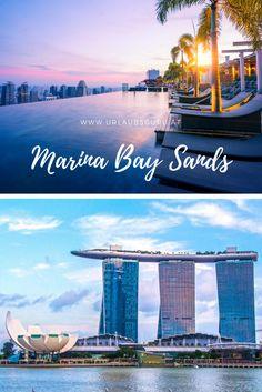 Marina Bay Sands - Das spektakulärste Hotel in Singapur Beach Volleyball, Marina Bay Sands, To Go, Building, Travel, Singapore, Asia, Buildings, Viajes