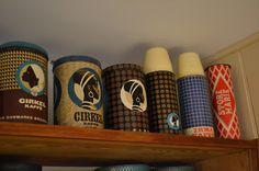 Mine kaffedåser :: My coffee cans My Coffee, Coffee Cans, Copenhagen Denmark, Mixed Media, Collage, Canning, Mugs, Retro, Tableware