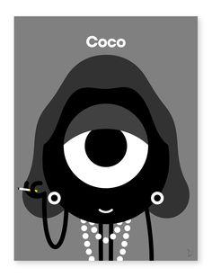 Ilustrações de portraits de celebridades por Darcel em colaboração com Colette