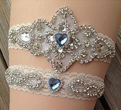 Wedding Garter / Rhinestone Wedding Garter / by SimplyKateGrace, $28.00