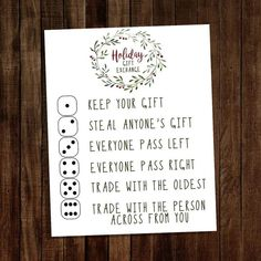 Christmas Gift Exchange Games, Holiday Games, Family Christmas Gifts, Christmas Party Games, Holiday Fun, Christmas Holidays, Christmas Gift Ideas, Cheap Christmas, Thanksgiving Games