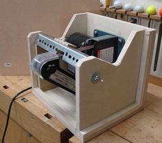 """Belt Sander Sharpener --- My Version      Jamie once said """"ask 10 woodworkers how to sharpen a tool and you'll get 12 answers""""; boy, i..."""