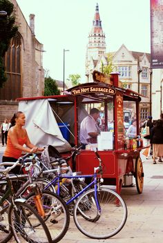 Hot Dog stand, Cambridge, England  Not exactly a truck stop but hey...