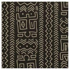 Modern Mudcloth Pattern Fabric