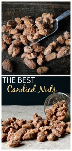 The Best Candied Nuts- 4 ingredients and 5 minutes is all it takes to make these delicious cinnamon coated nuts. Vegan, gluten free, and egg free.