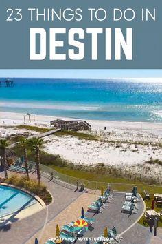 25 Epic Things To Do In Destin, Florida [Including Where To Stay] – Honeymoon Miramar Beach Florida, Fort Walton Beach Florida, Destin Florida Vacation, Destin Beach, Florida Travel, Florida Beaches, Beach Trip, Florida Honeymoon, Destin Florida Restaurants