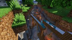 a ravine shanty town me and my friend built Minecraft Minecraft Building Guide, Easy Minecraft Houses, Minecraft Medieval, Minecraft Plans, Minecraft City, Amazing Minecraft, Minecraft Decorations, Minecraft House Designs, Minecraft Construction