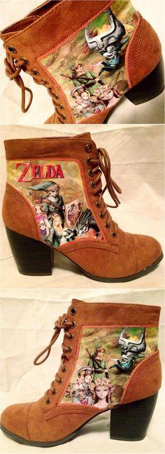 Legend of Zelda - Twilight Princess boots | #legendofzelda #eskjshoes #custom