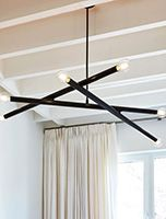 lighting Oversized Furniture, Small Furniture, Sloped Ceiling, Ceiling Lights, Mid Century Bathroom, Steel Canopy, Window Hardware, Contemporary Chandelier, Chandelier Lighting