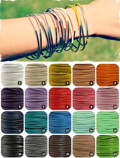 $3.99 Set of Three Fancy Leather Bangles - 20 Colors to Choose From! at VeryJane.com