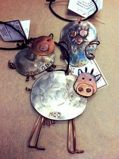 Spoon Animal Ornaments - $15.00-20.00