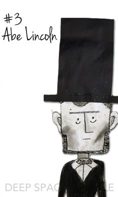 Abe Lincoln Art Project:  The years best art projects for 2014-15 from Deep Space Sparkle