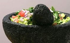 This guacamole is a favourite in the flat whenever there is Mexican food to be had. We will buy ready-made salsa or spice mix, but never guacamole -- the main ingredient in all the supermarket jars I've seen is peas! Jeezo man.