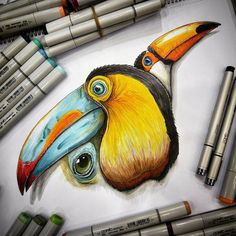 Outstanding drawings of game design by Tino Valentin.|funpalstudio| animals art artist artistic beautiful artwork colors creativity design digitalart drawing entertainment illustration paintings