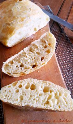 Köstliches No Knead Bread mit Knusperkruste -das Brot ganz ohne Kneten von Cinnamon and Coriander